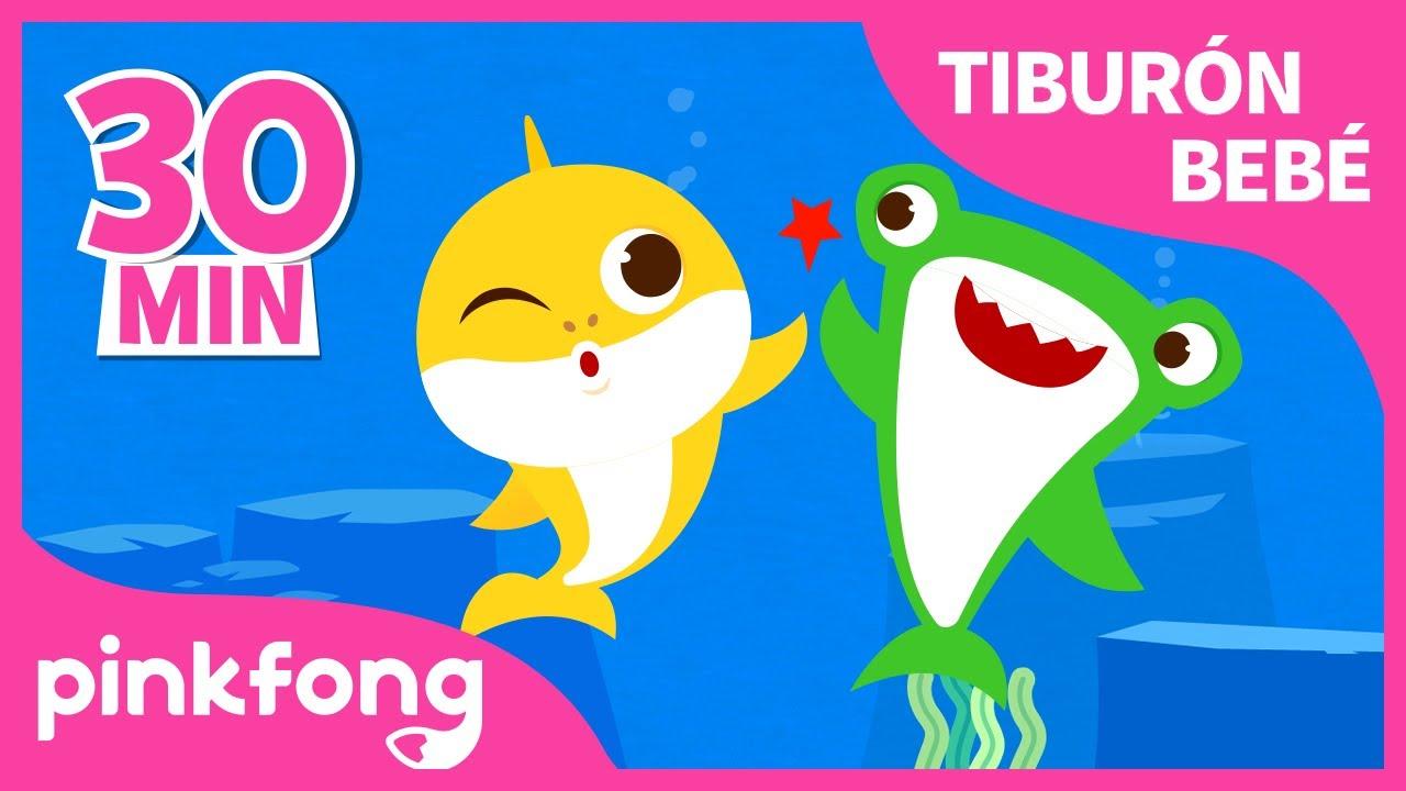 ¡Canta con Tiburón Bebé! 🦈  | El Mes de Tiburón Bebé | +Recopilación | Pinkfong Canciones Infantiles
