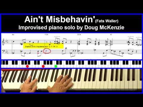 Ain't Misbehavin' - Jazz piano tutorial