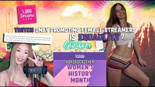 The Most Savage Man On Earth Rants: Twitch Only Promoting Female Streamers = Gender Equality