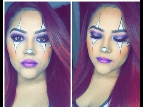 cute easy clown halloween makeup  youtube