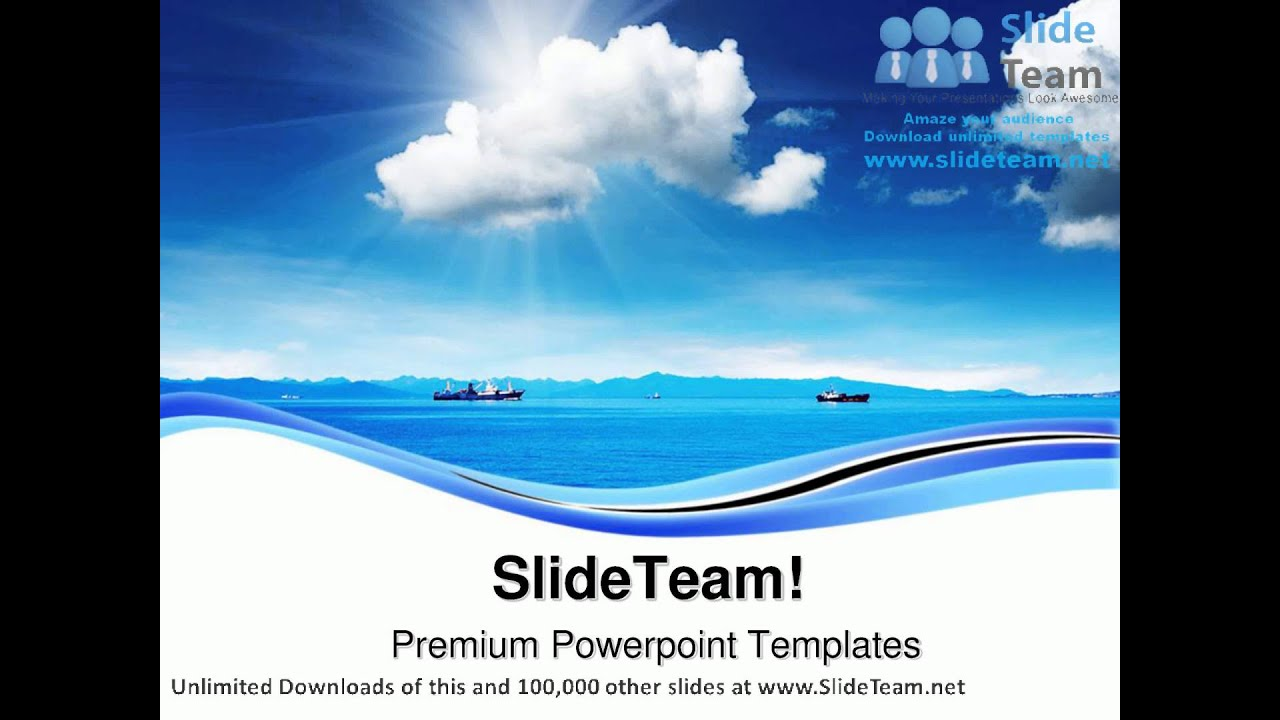 Blue sky and ocean nature powerpoint templates themes and blue sky and ocean nature powerpoint templates themes and backgrounds ppt layouts youtube toneelgroepblik Choice Image