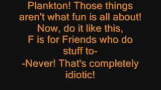 Spongebob FUN song with lyrics