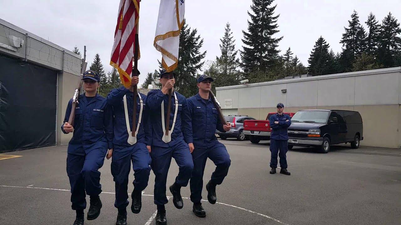 U.S. Coast Guard MFPU Color Guard Practice