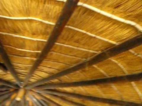 Botswanan hut style accomodation