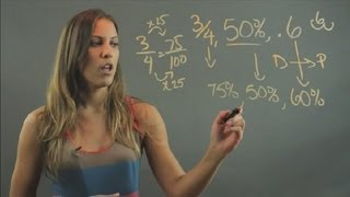 How to Compare Percentages, Fractions & Decimals : Elementary Math