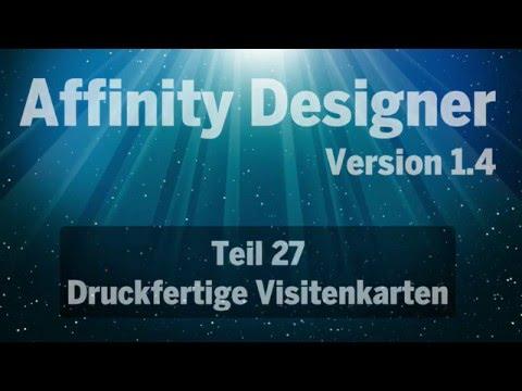 Affinity Designer Teil 27 Visitenkarten Erstellen Youtube