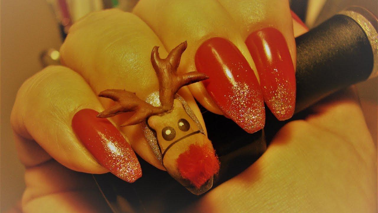 3d Reindeer Nail Art Tutorial Plus Giveaway winners! - YouTube