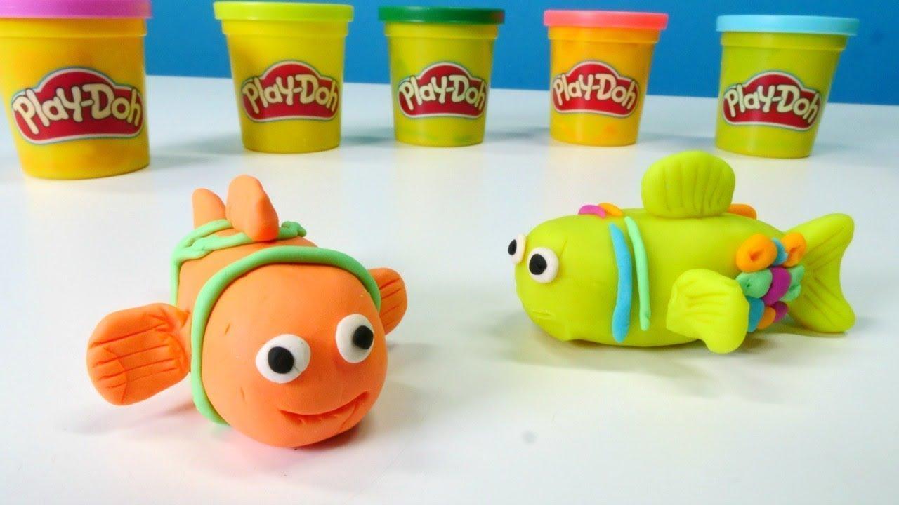 Basteln Für Kinder Wir Machen Einen Fisch Spielspaß Mit Play Doh