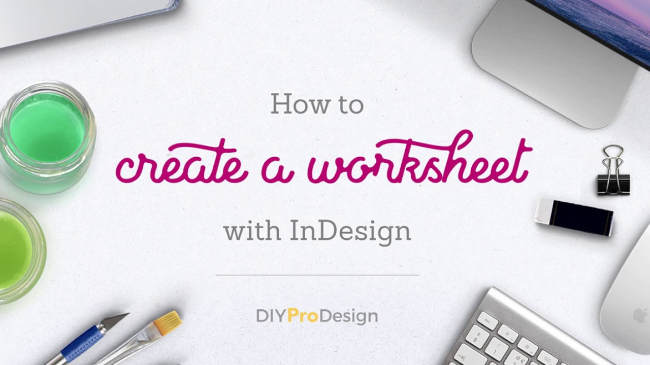 How to Create a Worksheet with InDesign YouTube – How to Create a Worksheet
