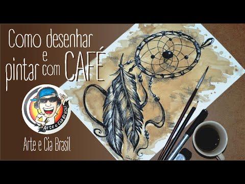 Como Desenhar Filtro Dos Sonhos E Pintar Com Cafe Youtube