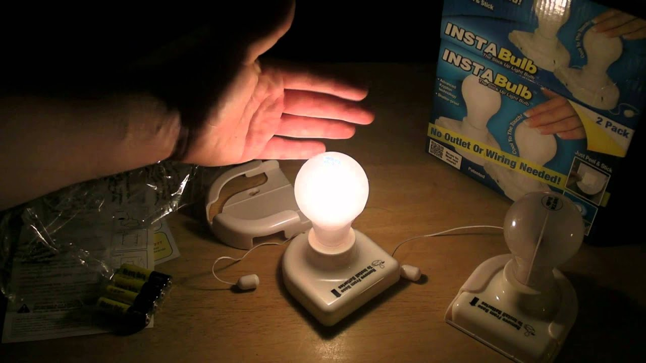 Instabulb As Seen On TV Battery Operated Stick Up Light Review