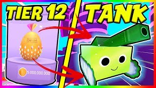 *GOLDEN TANK* OPENING A TIER 12 EGG IN PET SIMULATOR! | Roblox