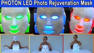 Review of Pro-Nu 3-in-1 Red/Blue/Green Photon LED Photo Rejuvenation Light Therapy Facial Mask