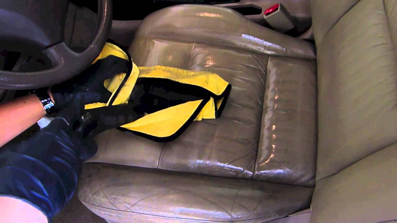 Steam Cleaning Leather Interior Youtube