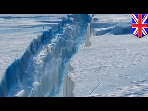 Climate change: 130-km-long crack might cause Antarctic Larsen C ice shelf to break off - TomoNews