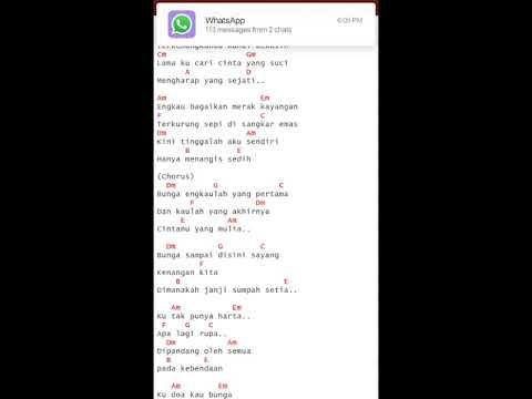 AZHAR BUNGA (chord,lirik,suara merdu)