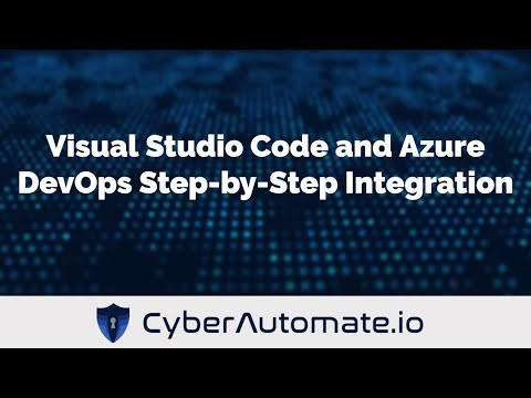 Visual Studio Code and Azure DevOps (formerly VisualStudio com