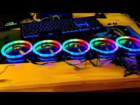 Корпусные вентиляторы Aigo DR12 RGB 🌈 Кулер с подсветкой для компьютера с AliExpress