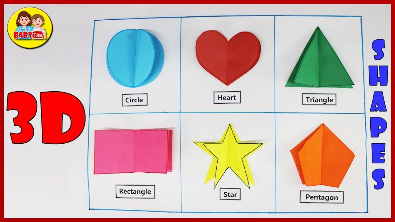 How to make 3D Shapes - Paper Crafts - Maths Model 3D Shapes