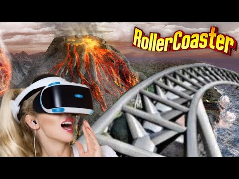 360 video || Roller Coaster Ride on Volcano