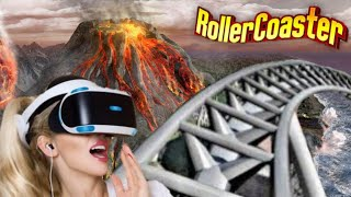 vr 360 roller coaster on volcano isle vr video 360 virtual reality