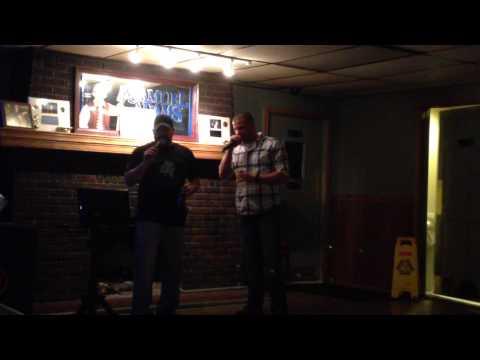 Corey singing at Thunder Road Bar & Grille