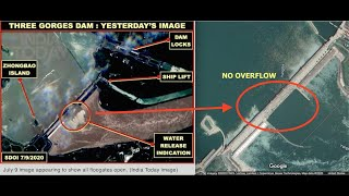 Satellite Image of Three Gorges Dam Shows All Floodgates Opened, EQ's in Proximity, Latest