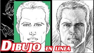 como dibujar el rostro del hombre explicado
