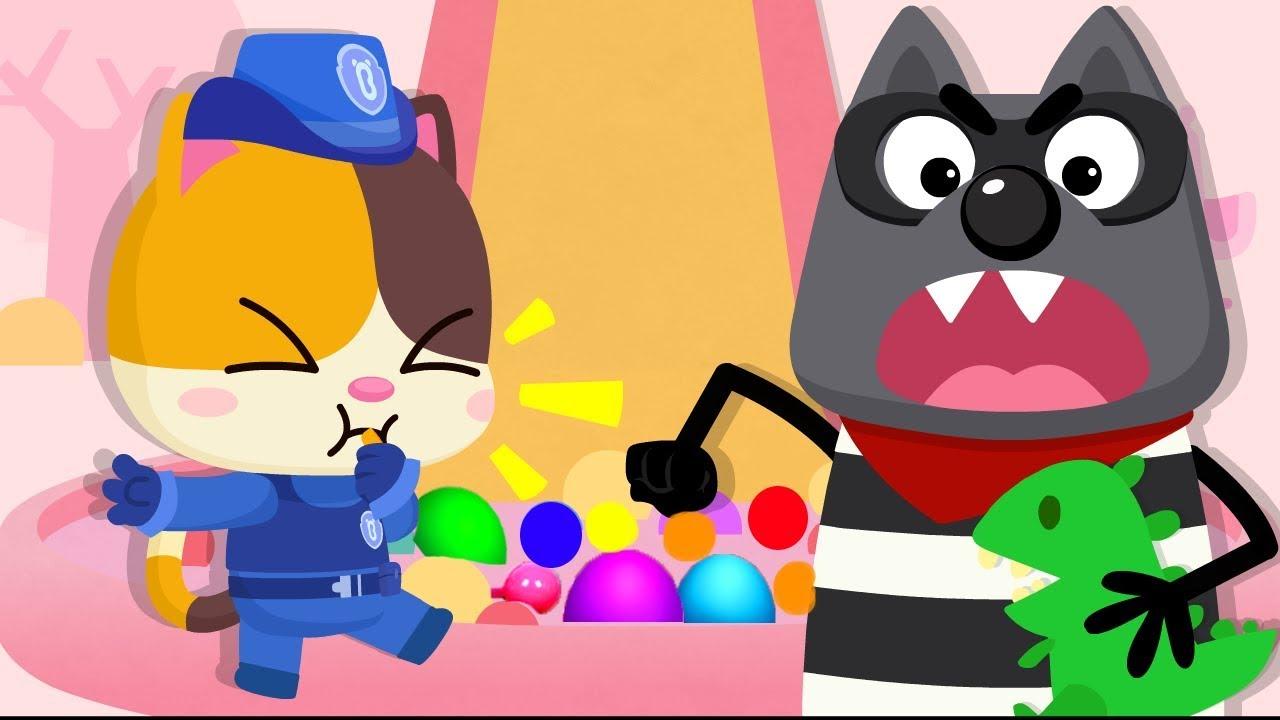 Ai là kẻ đánh cắp sắc màu??   Sói xấu xa và mèo Mimi   Nhạc Hoạt hình thiếu nhi vui nhộn   BabyBus