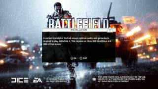 Battlefield 4 Doesn't Work for XBOX 360 4GB