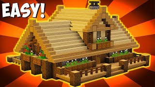 Minecraft: how to make a wooden house tutorial ( rustic tutorial) [ build ] this is big survival that looks and cabin style with ...