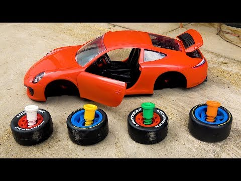 Assembling Car Learn Colors Toys Songs for Kids | Wheels On The Bus