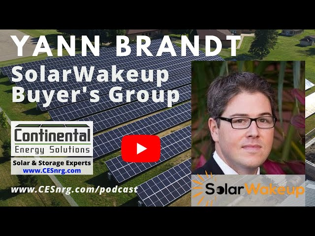 Yann Brandt - SolarWakeup Live Buyer's Group for Resi Solar