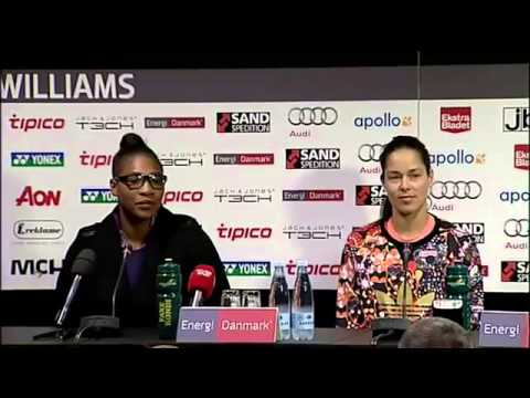 Serena Williams & Ana Ivanovic press conference (18/11/2014)