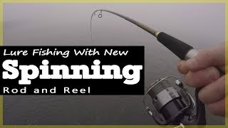 Lure fishing - New Diawa Spinning Rod and Shimano Reel set up