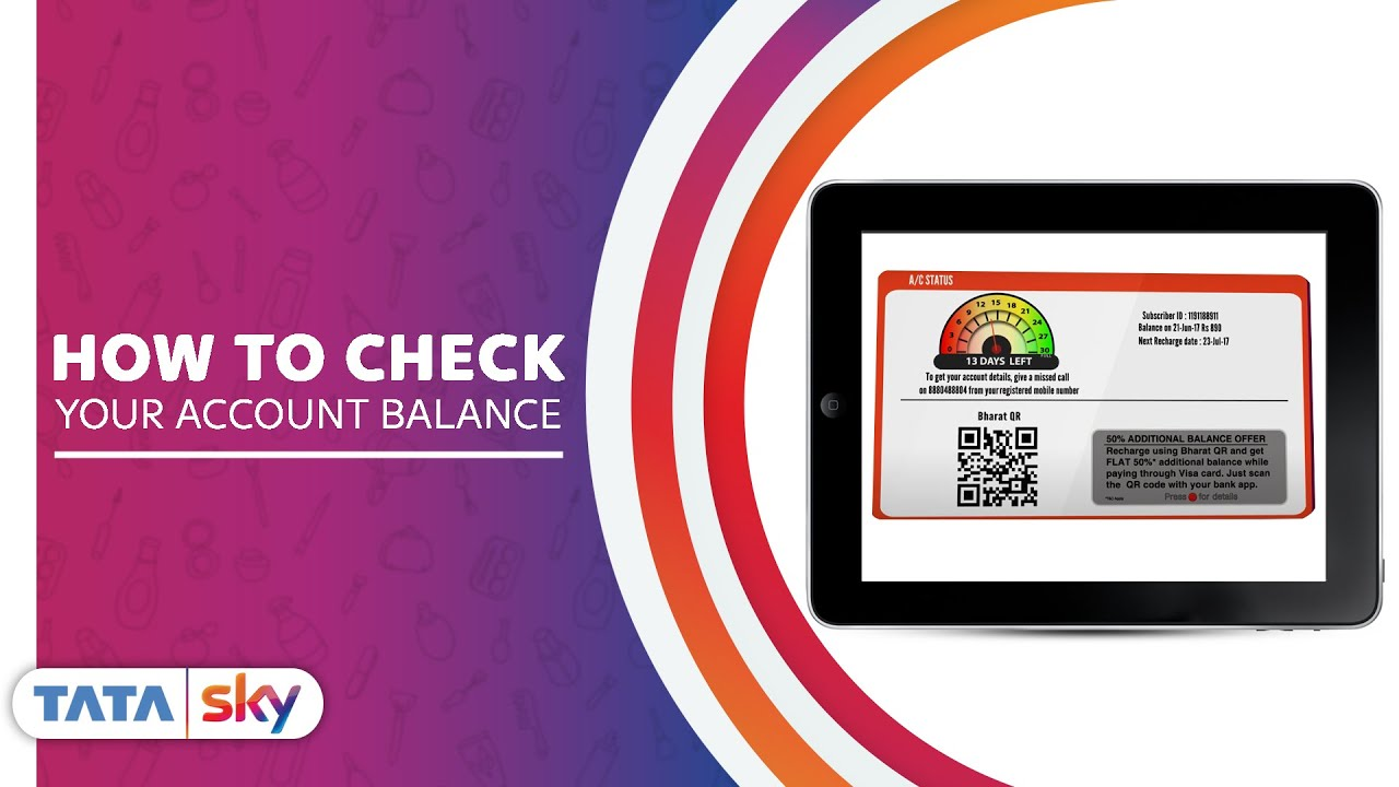 Tata Sky | DIY - How to check your account balance