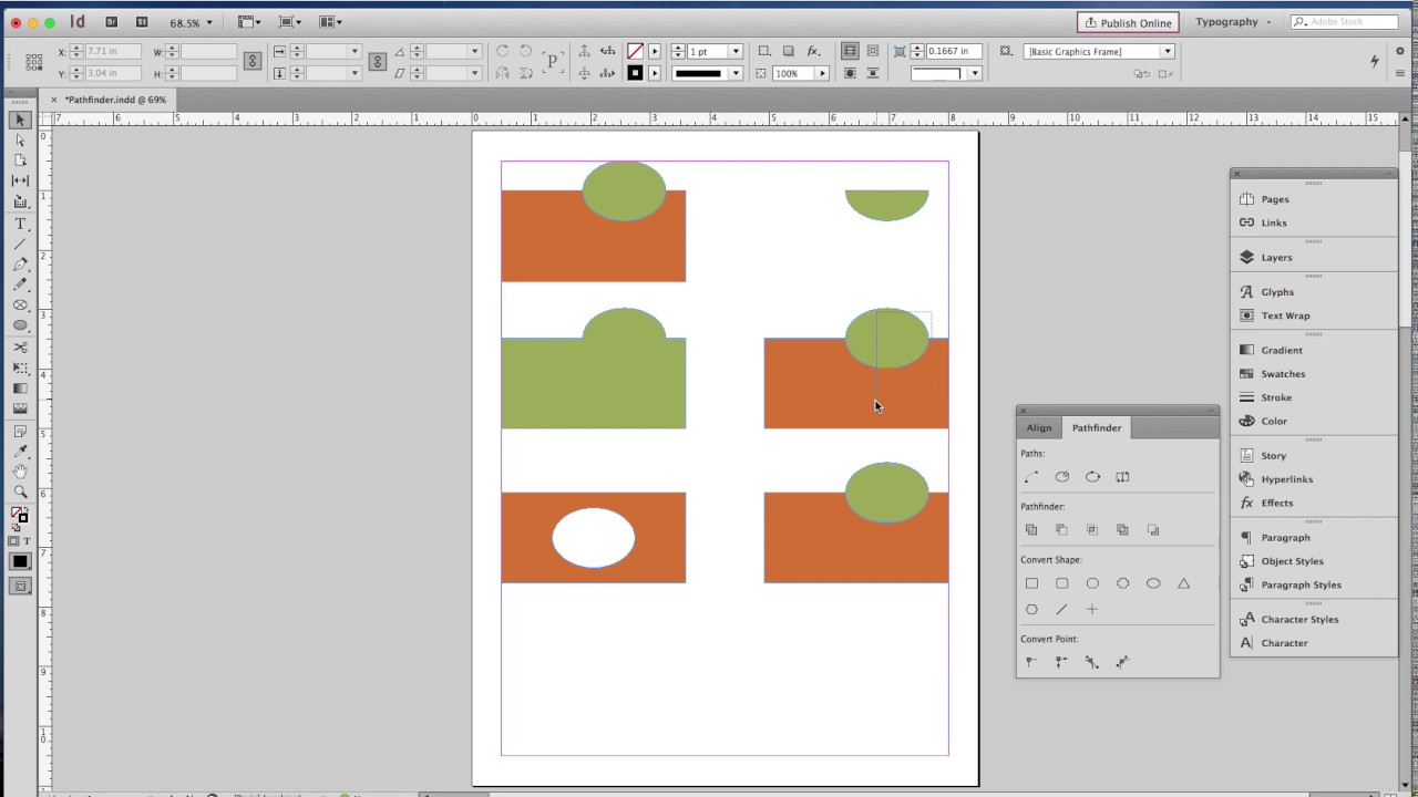 Using The InDesign Pathfinder