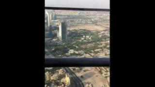 Burj Khalifa widok z tarasu