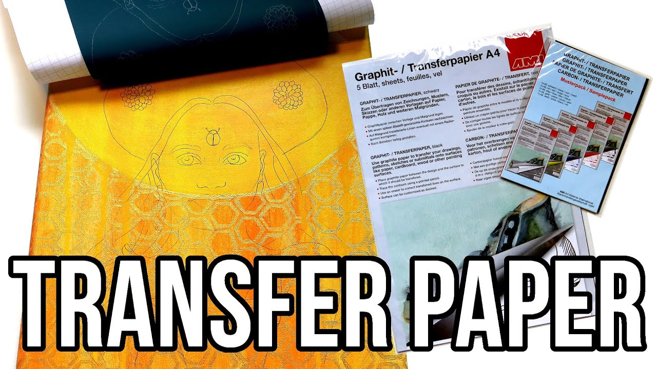 how to use graphite transfer paper art tips youtube