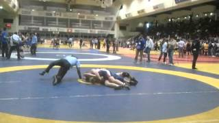 OFSAA WRESTLING 2012. Girl Taps Out.