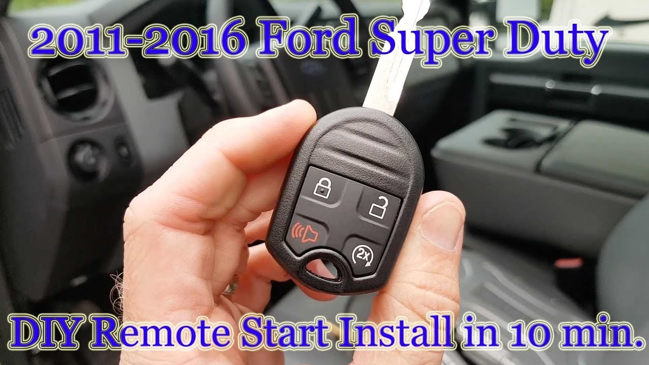 2009 f350 diesel remote start
