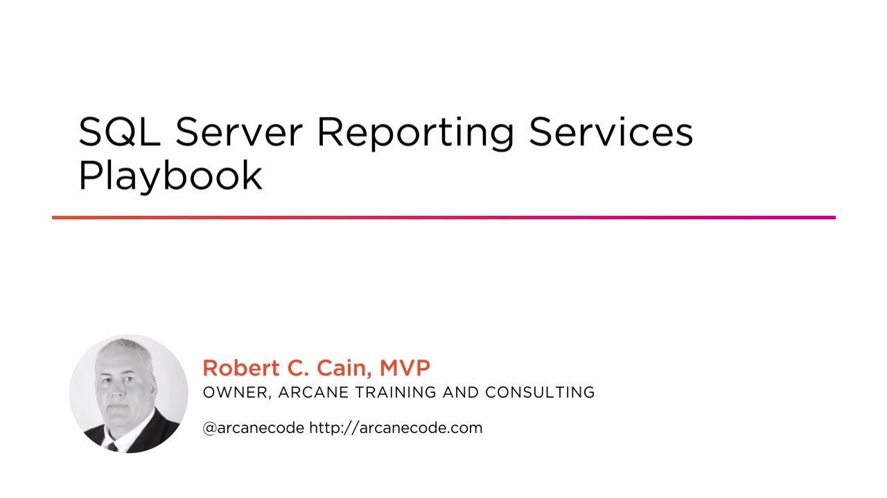 SQL Server Reporting Services Playbook | Pluralsight
