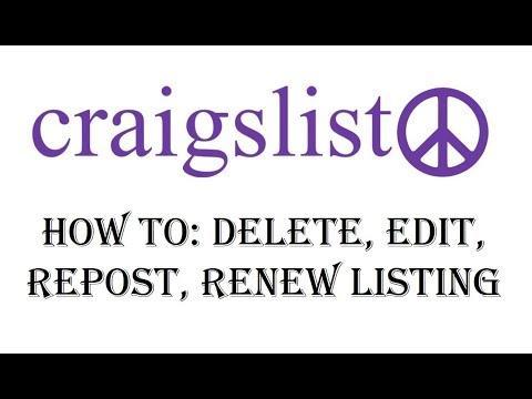 Craigslist How to Delete Post - Edit, Renew, Repost Ad