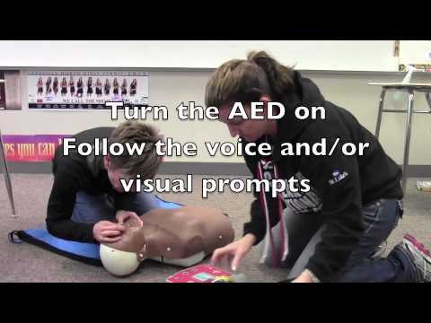 Adult 1 person CPR with AED