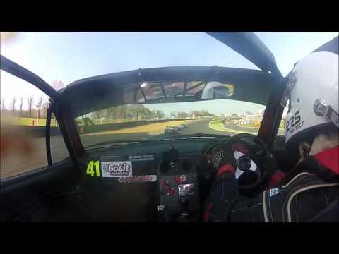 BRSCC Mazda Mx5 Championship 2017 Brands Indy 2A Kevin Brent Go4ItRacing Car 41