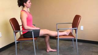 Seated Hamstring Stretch With Chair