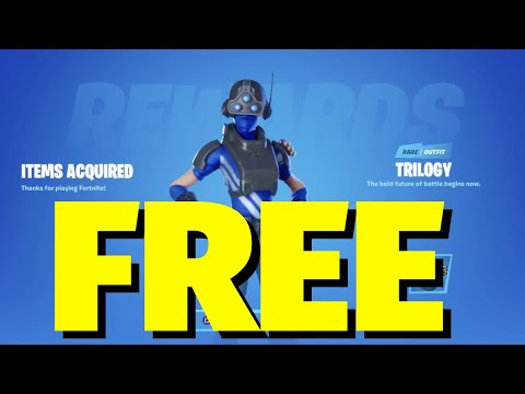 Fortnite: How To Get A FREE Skin / Outfit On PS4 | PlayStation Plus Celebration Pack | Trilogy Skin