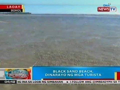 BP: Black sand beach sa Laoay, Bohol, dinarayo ng mga turista