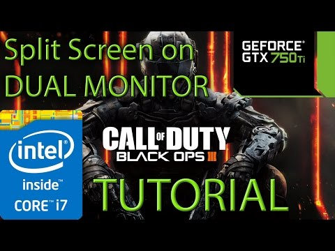 How to do split screen with 2 monitors on Black Ops 3 / III