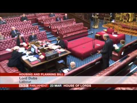 Lord Dubs on Basements House of Lords 24032016